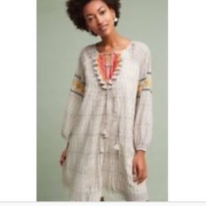 Anthropologie NWOT tunic dress w embroidery! Small